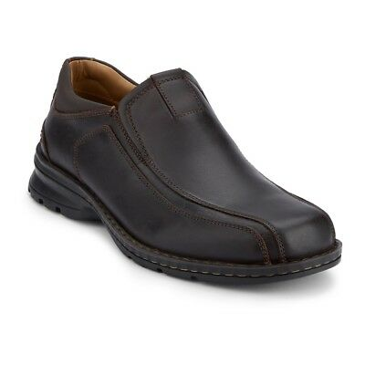 Dockers Men's Agent Genuine Leather Bicycle Toe Slip-on Oxford Shoe Dark Brown