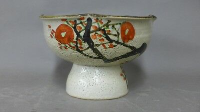 Japanese Art Pottery Compote