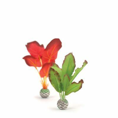 Oase biOrb Easy Plant 2 Pack Red/Green Silk 20cm Fish Tank Aquarium Decor