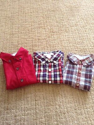 Lot of 3 JANIE AND JACK Baby Boy's Cotton Button-Down Shirts, Size 3-6 Months