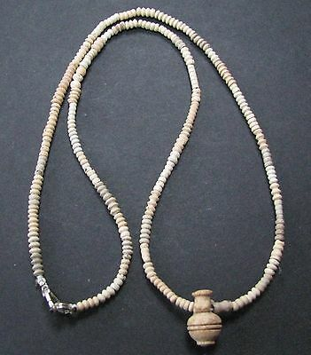 NILE  Ancient Egyptian Coptic Period  Amulet Mummy Bead Necklace ca 300 AD