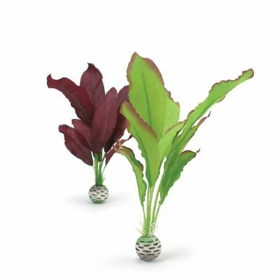 Oase biOrb Easy Plant 2 Pack Green/Purple Silk 29cm Fish Tank Aquarium Decor