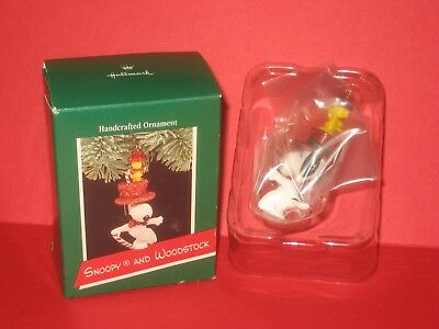 1989 Hallmark Snoopy and Woodstock Peanuts Gang United Feature Syndicate