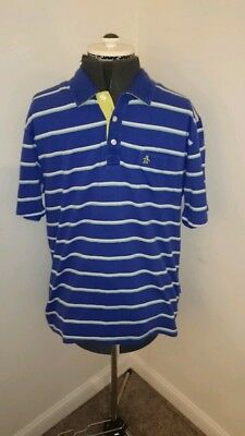 Penguin blue and white striped polo shirt mens xl