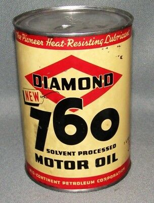 Vintage Diamond NEW 760 Motor Oil 1 Quart Can Sign / 30 cents price Can