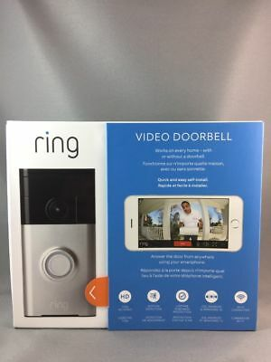 Ring Video Doorbell Wi-Fi Weather Resistant New In Sealed Box