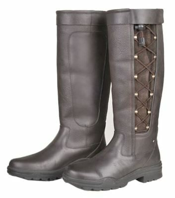 Milan Horse Riding Ladies Outdoor Non Slip Yard Stable Lace Country Walking Boot