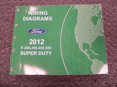 2012 ford f250 f350 f450 f550 pickup truck electrical wiring diagram manual