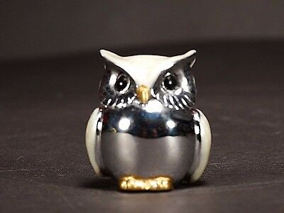 Silver color Small Owl Ornament Home Decor Christmas Gift Design 2