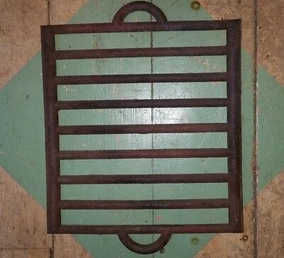 Old Vintage Cast Iron Campfire Grill Plate ~ Rustic Camping Cabin Farm Cookware