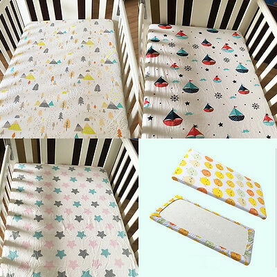 130*70CM Soft Cotton Cover Fitted Sheet Blanket For Baby Bed Crib Cot Mattress N