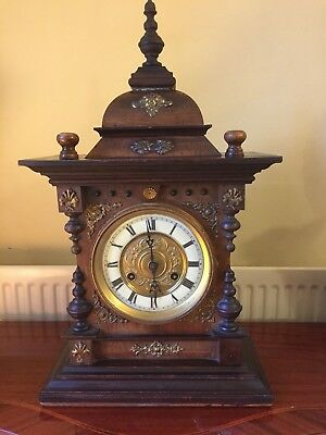 Junghans Carved Ornate Chiming Bracket/Mantle Clock –circa 1900
