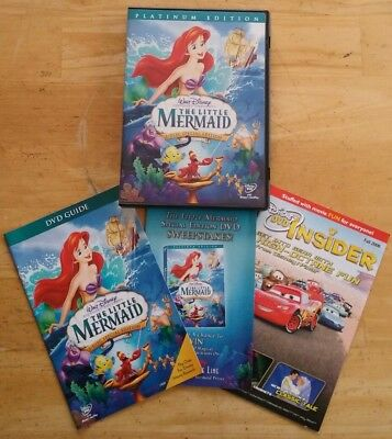 The Little Mermaid (DVD, 2006, 2-Disc Set, Platinum Edition) TESTED Disney Kids