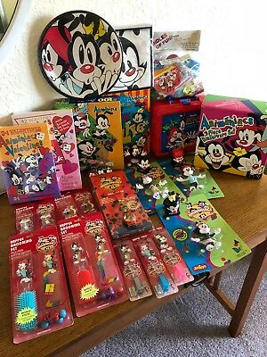 Warner Bros Animaniacs Yakko Wakko Dot 26 PC. Lot Toys Lunch Box Puzzle Party