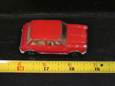 Vintage PlayArt Hong Kong Austin Mini Cooper S MKII Red Toy Model