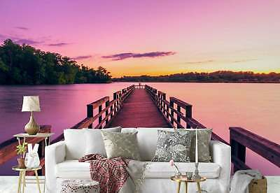 Jetty Lake Forest Photo Wallpaper Wall Mural (FW-1003)