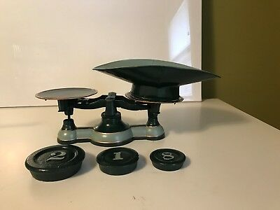 Antique Balance Scale w/ Weights