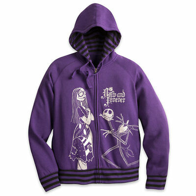 Disney Nightmare Before Christmas Jack Skellington Sally Hoodie