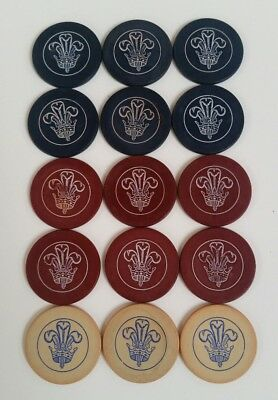 15 Vintage/Antique Fleur De Lis Poker Chips