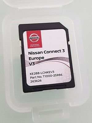 Genuine Nissan Connect 3 Sat Nav Lcn2-Kai Latest V3 Maps Sd Card 2017 / 2018