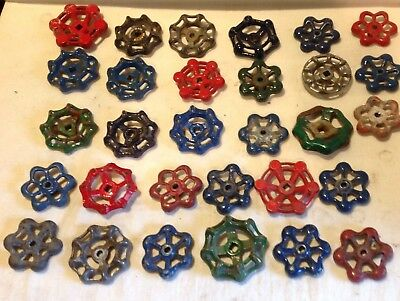 Thirty Vintage Valve Handles Water Faucet Knobs STEAMPUNK Industrial 30