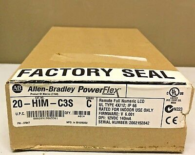 New Sealed Allen Bradley 20-HIM-C3S /C PowerFlex Remote Small HIM Full Numeric