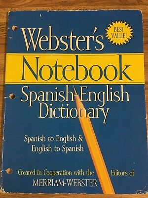 Webster's Notebook - Spanish-English Dictionary