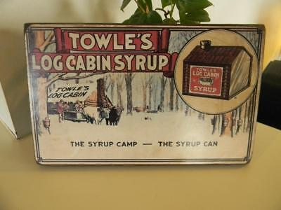 Towle's Log Cabin Wood Sign Wall Hanging Reproduction