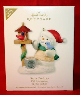 Hallmark  Ornament 2012 Snow Buddies 15Th  Anniversary Special Edition