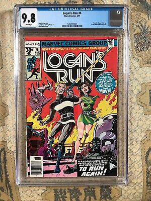 LOGAN'S RUN   #6 CGC 9.8 WHITE PAGES 1ST SOLO THANOS STORY! Marvel Comics Movie