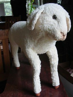 Vintage Lifesized Baby Toy Lamb. Realistic to Scale. Rare.