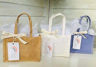 Handmade With Love Valentines Day Gift Bag With Love East of India Ribbon Rustic