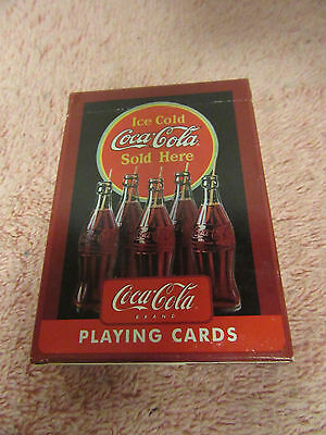 """1 Decks of """" Ice Cold Coca Cola Sold Here"""" Playing Cards"""