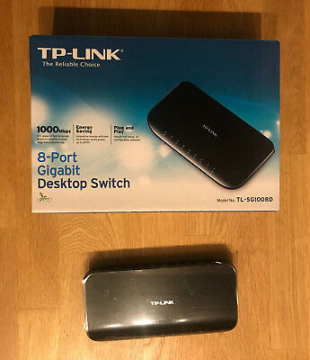 TP-LINK  8 Port Desktop Gigabit Switch TL-SG1008D  Ethernet 1000Mbps Network