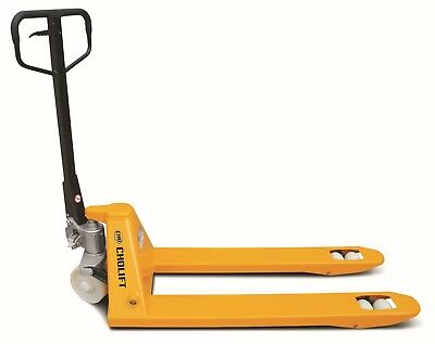 PALLET JACK HAND PALLET TRUCK,  4400LBS, 27X48 in,  MIN.FORK LOWERED HEIGHT 3 in