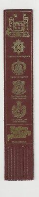 The Keep Military Museum. Burgundy Leather English  Bookmark