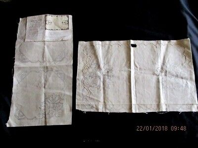 Vintage Myart 3 Piece Vanity Set - Cut Work No. C.1341 - Linen - Worked 10% App.