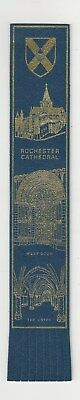 Rochester Cathedral. Blue Leather English  Bookmark.