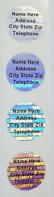 100 SWL CUSTOM PRINT 20 mm SVAG Hologram Tamper Evident Security Labels Seals