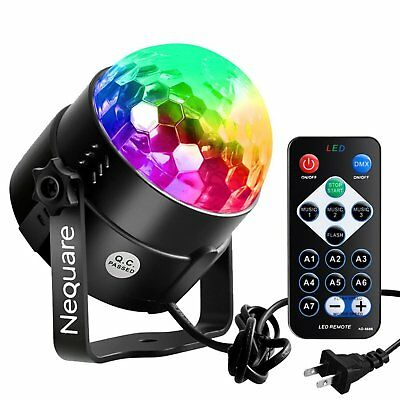 Mini Disco Ball Projector Light Stage Party Laser Show 7 Color Remote Control
