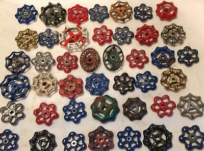 Forty Three Vintage Valve Handles Water Faucet Knobs STEAMPUNK Industrial 43