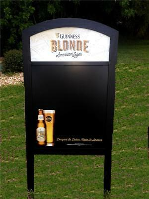 Guinness Blonde Lager Beer Sidewalk Chalkboard 24x48 A-Frame Wood Menu New