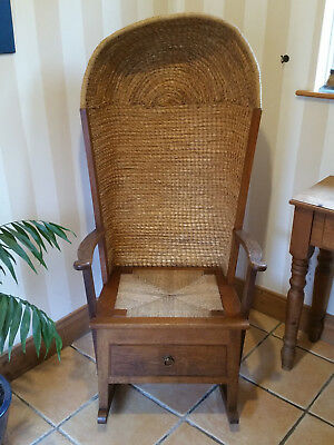 Orkney Chair Rocking & Hooded Reynold Eunson Original 1970's Very Rare Full size