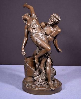 French Antique Greek Revival Bronze Sculpture after Girardon