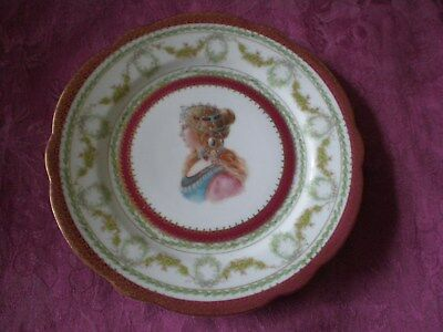 Antique Austria Portrait Plate Imperial Crown China
