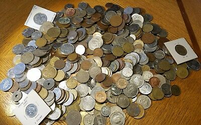 Large FIVE 5 Full Pounds Lot of  World Foreign Coins 5 LB  **