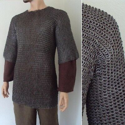 Chainmail Haubergeon 9mm Riveted. Ideal For Re-enactment, Stage, Combat & LARP