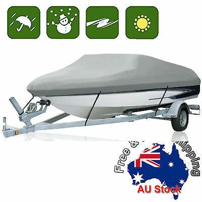 Premium Heavy Duty 600D 12-14ft 3.6-4.2m Marine Grade Trailerable Boat Cover E
