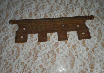 Antique/vintage Cast Iron Ropelt Piano? Name Plate