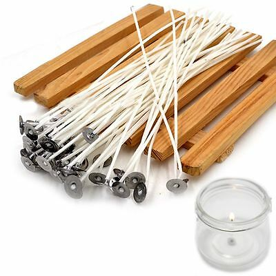 50Pcs Candle Wicks Cotton High-Quality-Pre-Waxed With Sustainer Candle Making